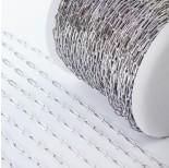 Zdjęcie - Łańcuch ze stali chirurgicznej owal wąski srebrny