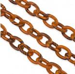 Zdjęcie - Pomarańczowy łańcuch aluminiowy owal malowany