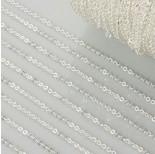 Zdjęcie - Łańcuszek płaskie koła drobne w srebrnym kolorze
