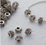 Zdjęcie - Koralik z kryształkami rose