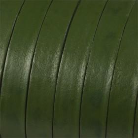 Zdjęcie - Rzemień naturalny płaski zielony