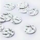 Zdjęcie - Srebrna zawieszka kółko pomarszczone AG925 srebrny