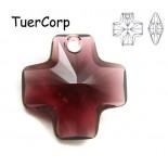 Zdjęcie - 6866 cross pendant, SWAROVSKI, burgundy,