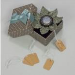 Zdjęcie - Metka z gumką do biżuterii brązowa