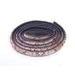 Zdjęcie - Rzemień półokrągły szyty wężowy