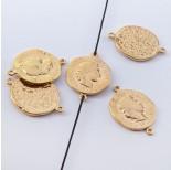 Zdjęcie - Srebrna moneta antyczna łącznik pozłacany