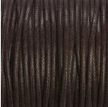Zdjęcie - Sznurek bawełniany woskowany brązowy