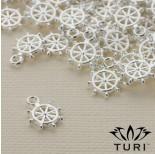 Zdjęcie - Zawieszka ster w srebrnym kolorze