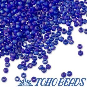 Zdjęcie - Koraliki TOHO Round Trans-Rainbow-Frosted Dark Sapphire