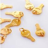 Zdjęcie - Srebrna zawieszka klucz AG925 Pozłacany