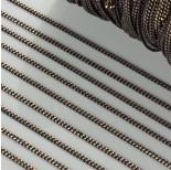 Zdjęcie - Łańcuszek pancerka dodatkowo platerowana w kolorze czarno-złotym
