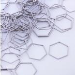 Zdjęcie - Baza geometryczna ze stali chirurgicznej heksagon srebrny