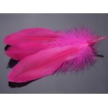 Zdjęcie - Pióra naturalne barwione koloru różowego