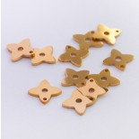 Zdjęcie - Mini zawieszka ze stali chirurgicznej koniczynka złota
