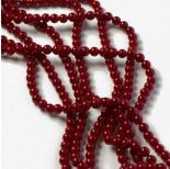 Zdjęcie - Perły majorka kulki red coral
