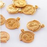 Zdjęcie - Srebrna zawieszka moneta z ramką AG925