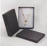 Zdjęcie - Pudełko do biżuterii ozdobne prostokątne czarne