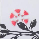 Zdjęcie - Mini chwosty w srebrnym okuciu brudny róż