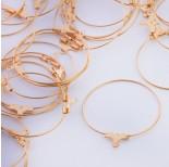 Zdjęcie - Baza do kolczyków koło odpinane ze stali chirurgicznej złoty
