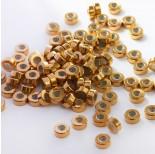Zdjęcie - Zapięcie stoper z silikonem ze stali chirurgicznej walec złoty