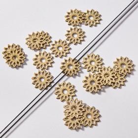 Zdjęcie - Zawieszka łącznik pozłacany ze stali chirurgicznej kwiatek rozeta