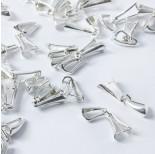 Zdjęcie - Srebrna krawatka diamentowa razem z łapaczkami AG925 srebrny