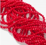 Zdjęcie - Kryształki kulki fasetowane ceramic red