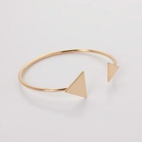 Zdjęcie - Bransoletka z mosiądzu płaskie trójkąty