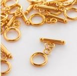 Zdjęcie - Zapięcie kółko patyczek z kulkami typu toggle ze stali chirurgicznej wkolorze złotym