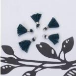 Zdjęcie - Mini chwosty w srebrnym okuciu ciemny zielony