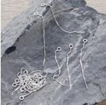 Zdjęcie - Srebrna baza kolczyka łańcuszek kosteczka, próba Ag925