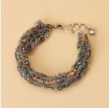 Zdjęcie - Bransoletka z drobnych łańcuszków z kryształkami