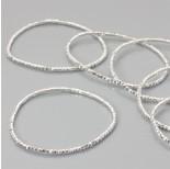 Zdjęcie - Bransoletka z kryształkami metal silver
