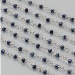 Zdjęcie - Łańcuch z kryształkami oponkami blue hematite