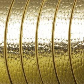 Zdjęcie - Rzemień płaski łuski złote