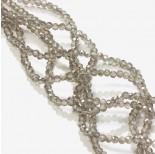 Zdjęcie - Kryształki oponki fasetowane silver shadow