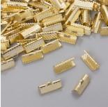 Zdjęcie - Końcówki zaciskowe szczęki w złotym kolorze