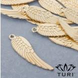 Zdjęcie - Zawieszka anielskie skrzydło w kolorze złotym