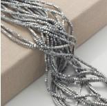 Zdjęcie - Hematyt platerowany kostka ścięta srebrna matowa