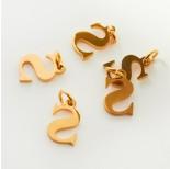 Zdjęcie - Zawieszka ze stali chirurgicznej literka S złota