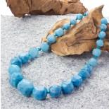 Zdjęcie - Agat kulki ciosane stopniowane błękitne