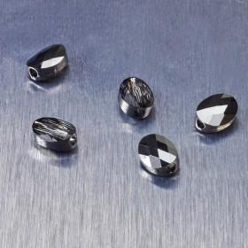 Zdjęcie - 5051 Swarovski mini oval bead Silver Night