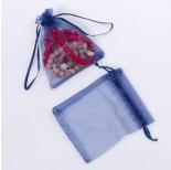 Zdjęcie - Woreczek z organzy do biżuterii niebieski