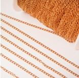Zdjęcie - Łańcuch ze stali chirurgicznej simple pozłacany