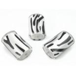 Zdjęcie - Walec akrylowy srebrna zebra