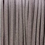 Zdjęcie - Rzemień zamszowy płaski metaliczny srebrny