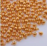 Zdjęcie - Zapięcie stoper z silikonem do cienkich sznureczków kulka z krawatką złoty