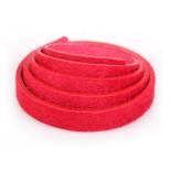 Zdjęcie - Pasek do bransoletek włochaty czerwony