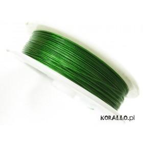 Zdjęcie - Linka stalowa zielona