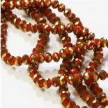 Zdjęcie - Kryształki oponki fasetowane red porcelain with golden